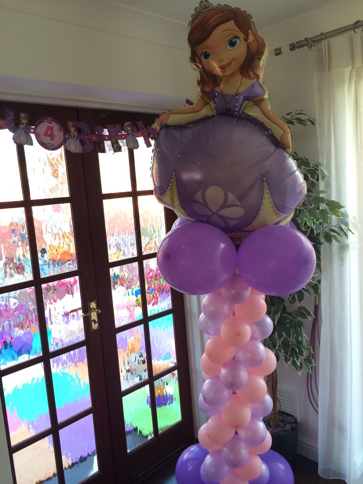Sofia Balloon Tower Sofia The First Pinterest