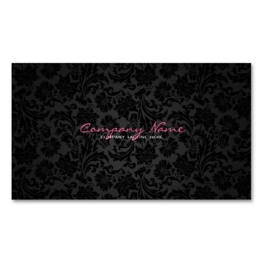 22 best business cards ideas pink and black images on pinterest plain white black vintage floral damasks business card reheart Choice Image