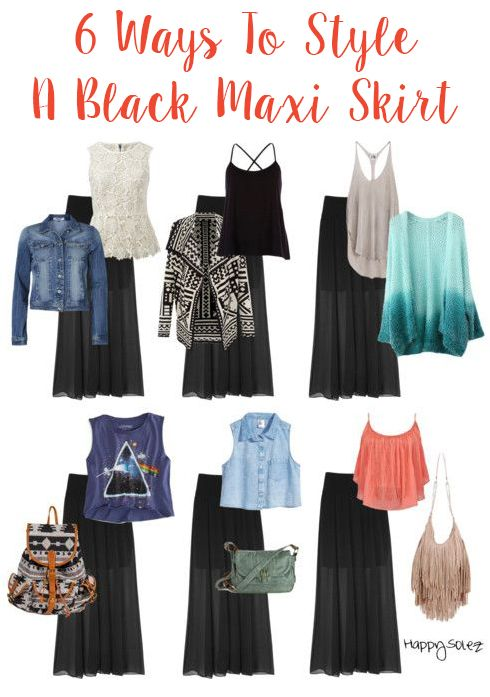 6 Ways To Style A Black Maxi Skirt #JustAddHijab