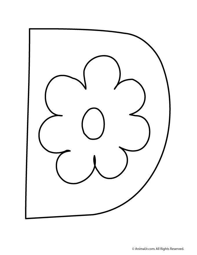 d bubble letter coloring pages - photo #7