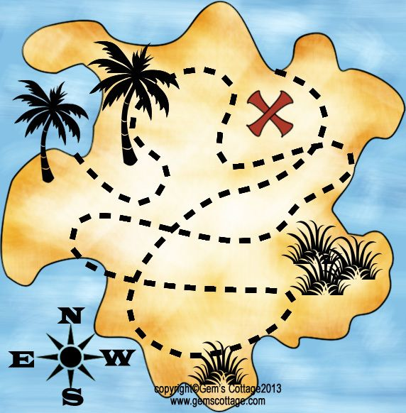 pirate treasure map printable | Tags: Pirate , Treasure Hunt , Treasure Map