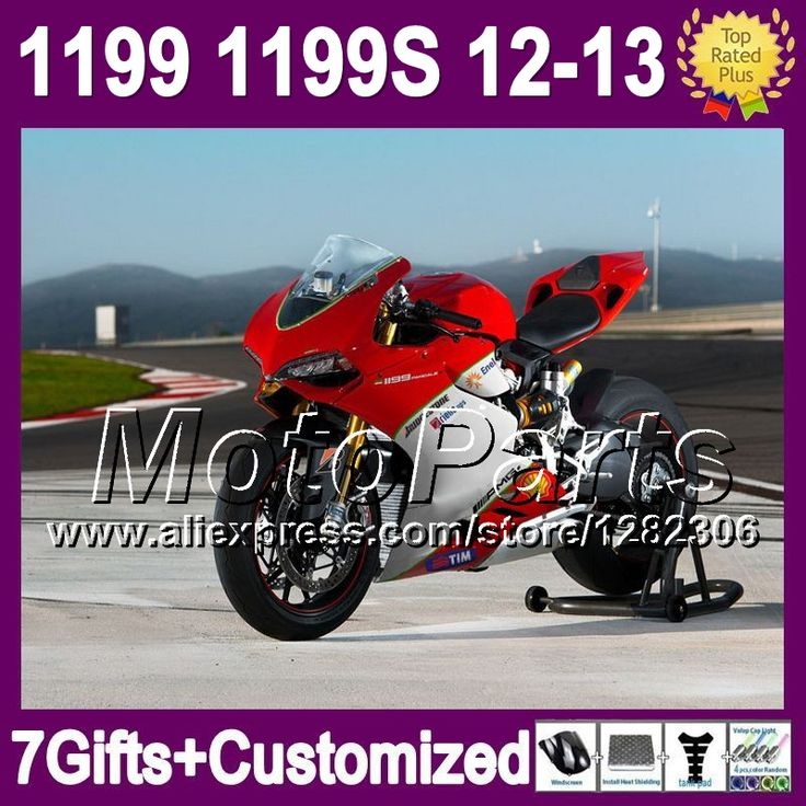 Красный белый 7 подарки зализа для DUCATI panigale 1199 1199 S 12 - 13 11 * 21 блеск красный белый 12 13 1199 1199 S впрыска комплект