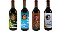 Kerst etiket maken voor een fles wijn of kinderchampagne. Zelf maken en printen op http://www.party-gifts.nl/kerst-en-oud-en-nieuw/