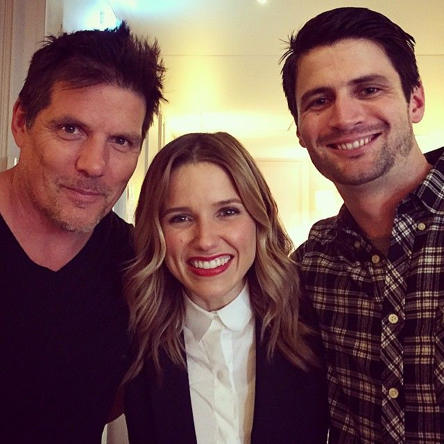 "Sophia Bush and her ""two favorite Scotts"" Paul Johansson and James Lafferty!"