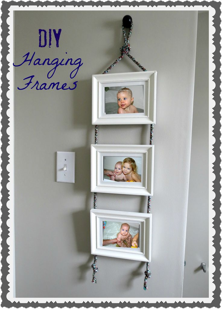 diy hanging frames using Ikea frames from @EastCoastCreative