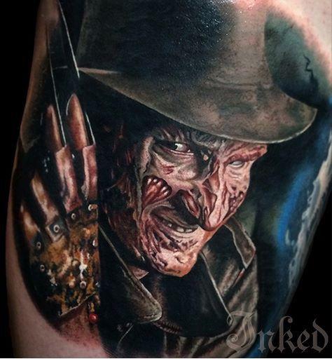 Amazing Nightmare on Elm Street tattoo