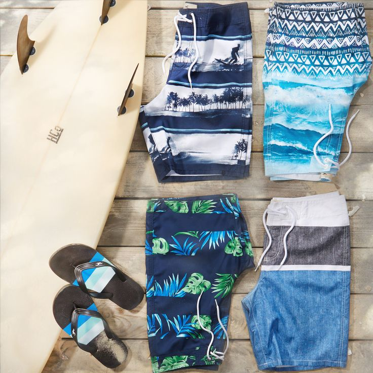 Swim into summer in new Hollister board shorts.