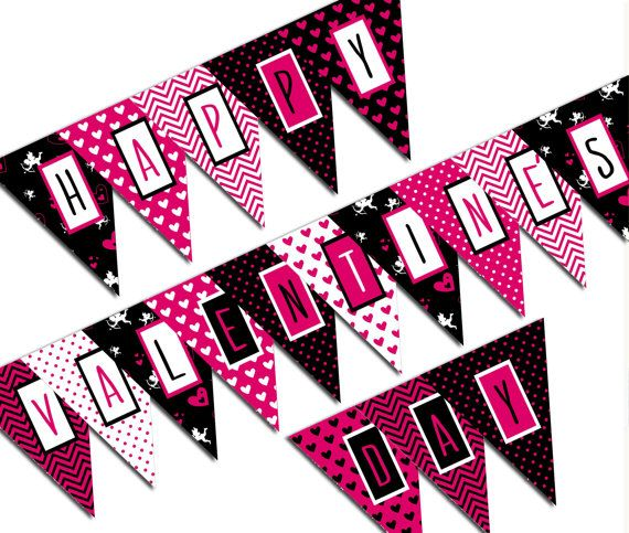 Valentines Day Banner Happy Valentines Day Valentine