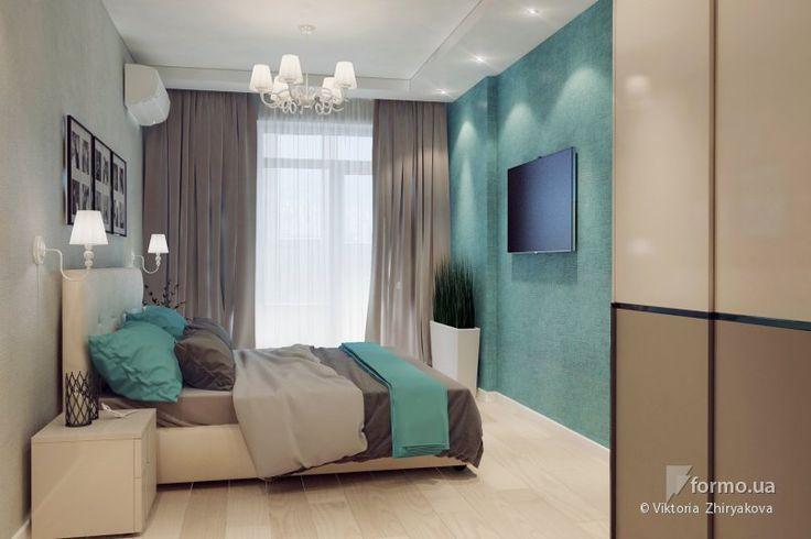 Спальня в нежных оттенках и санузел, Viktoria  Zhiryakova, Спальня, Дизайн интерьеров Formo.ua