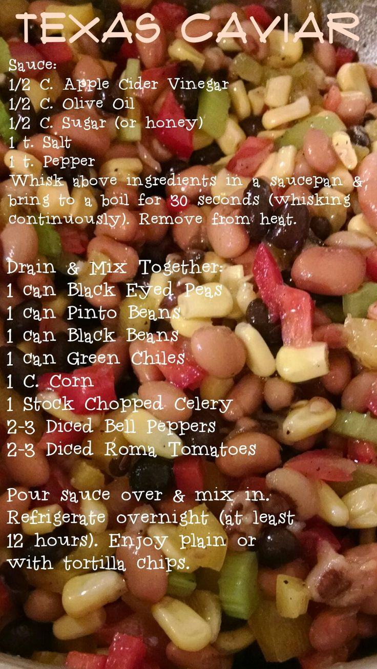 Texas Caviar So good! I made this with Stevia instead of sugar & it was delicious!