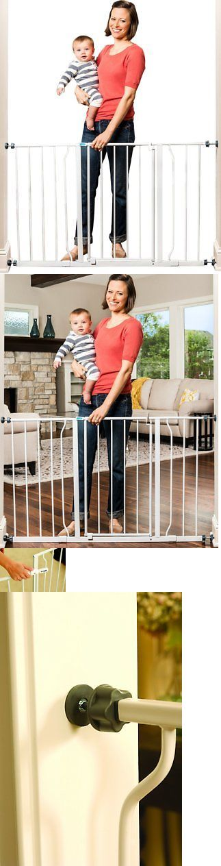 Baby Safety and Health 20433: Regalo Easy Open 50 Inch Wide Baby Gate, Pressure Mount With 2 Included Extensio -> BUY IT NOW ONLY: $36.63 on eBay!