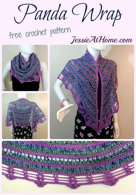 Panda Wrap - free crochet pattern by Jessie At Home: