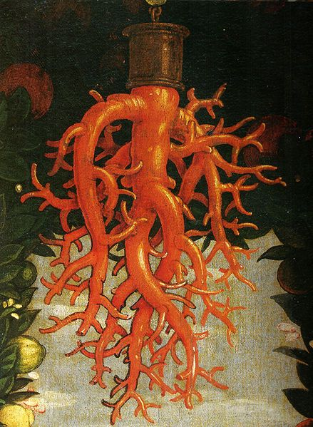 Andrea Mantegna, Madonna Della Vittoria, Detail of the Coral Ornament, 1496