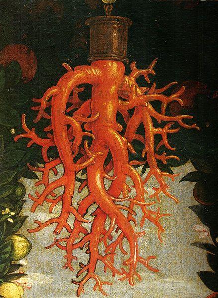 Andrea Mantegna, Madonna Della Vittoria, Detail of the Coral Ornament, 1496