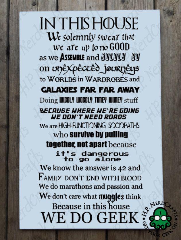 We Do Geek - VINYL LETTERING ONLY by HPNerdCrafts on Etsy https://www.etsy.com/listing/243296494/we-do-geek-vinyl-lettering-only