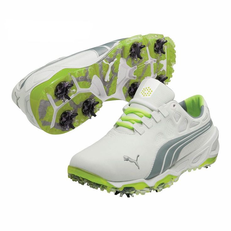 Puma Men's Biofusion / Grey/ Fluorescent Yellow Golf Shoes