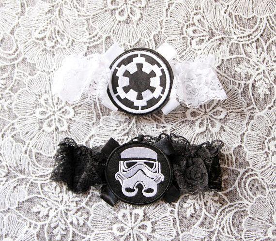 Star Wars Wedding Garter Set Bridal Garter Galactic Empire