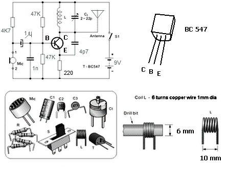 Simple FM Transmitter with BC549