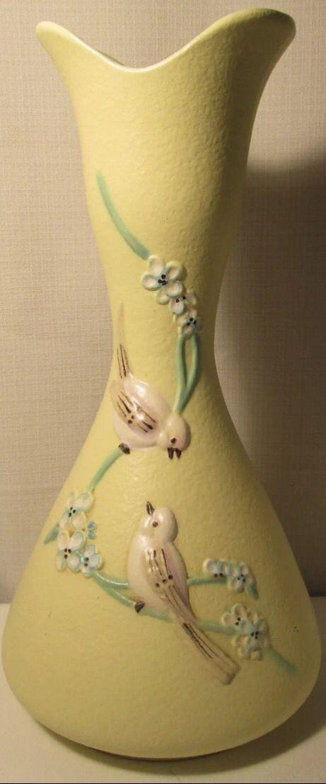 """Hull Pottery, Serenade, 1957. Vase, S12, 14""""."""