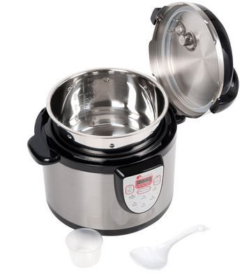 Buy this Secura 6-in-1 Electric Pressure Cooker 6qt, 18/10 Stainless Steel Cooking Pot, Pressure Cooker, Slow Cooker, Steamer, Rice Cooker, Browning/Sauté, Soup Maker with deep discounted price.