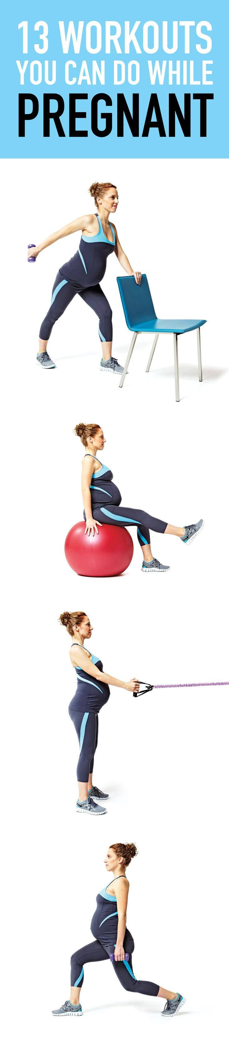 Exercising throughout pregnancy is one of the best gifts you can give yourself—and your baby. Here are some easy workouts you can do while pregnant.
