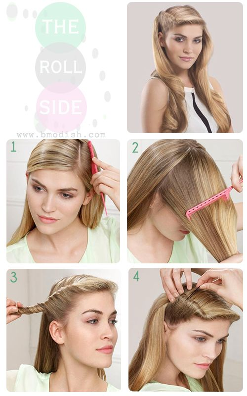 simple roll side hairstyle tutorial by bmodish.com