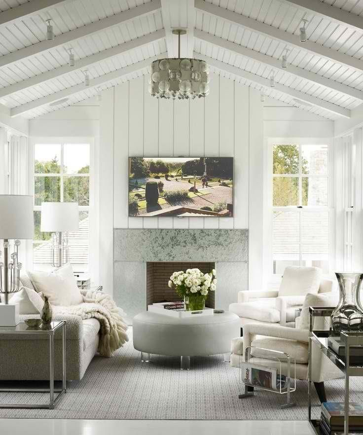 A gorgeous modern cottage living room  Horchow Now Nouveau Cottage  Bedroom seating Cottage