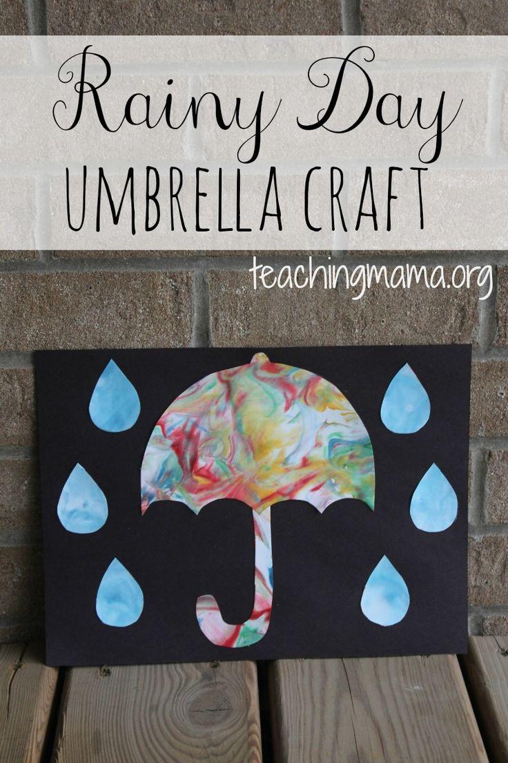 Rainy Day Umbrella Craft | Teaching Mama's Posts | Weather ...