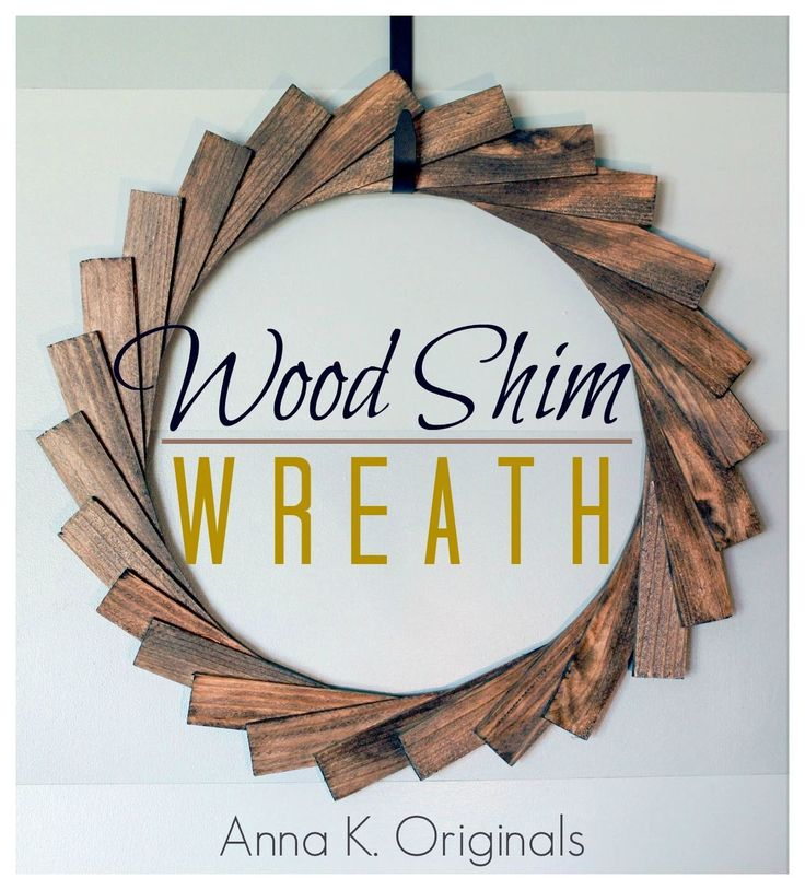 Add a cool, modern accent to your front door with inspiration from this wood shim wreath. Use your favorite Minwax® stain to put your signature twist on this DIY project.