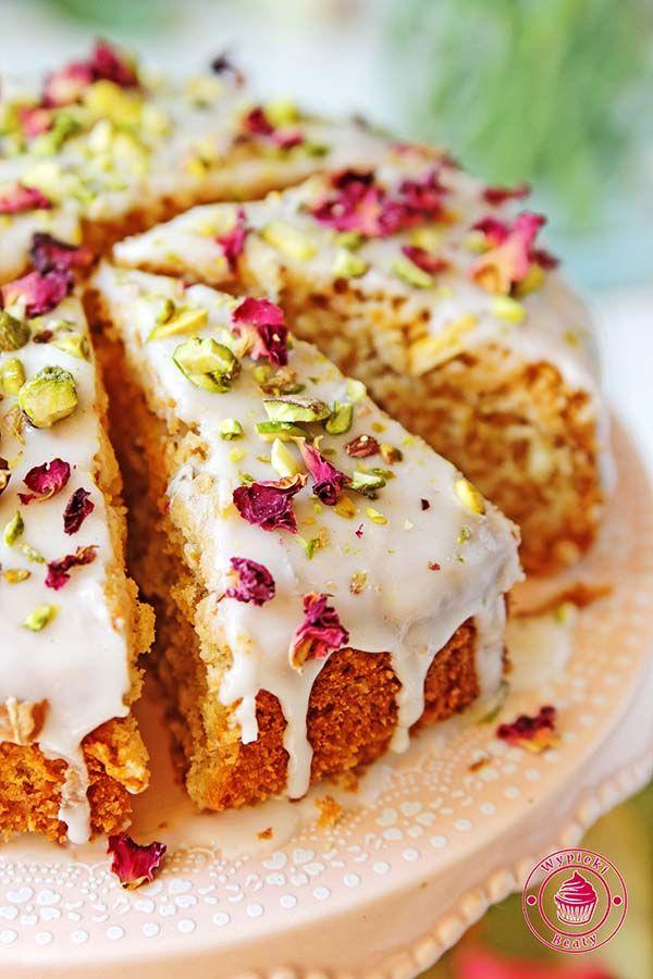 persian almond cake - perskie ciasto różano-migdałowe