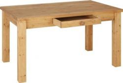 Chunky Pine 6' Dining Table contemporary dining range with a dovetailed joint drawers, with overall dimension Height 776mm, Width: 1820mm, Depth: 855mm. Price: £ 259.95. For more details http://solidwoodfurniture.co/product-details-pine-furnitures-596-chunky-pine-dining-table.html