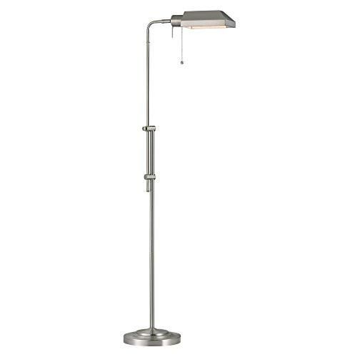 Bring good lighting and classic vintage style to living rooms and bedrooms with the pharmacy adjustable floor lamp in nickel finish. Perfect for reading, the ha