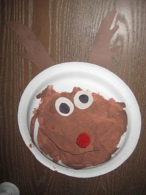 The Cozy Red Cottage: Paper plate Rudolph