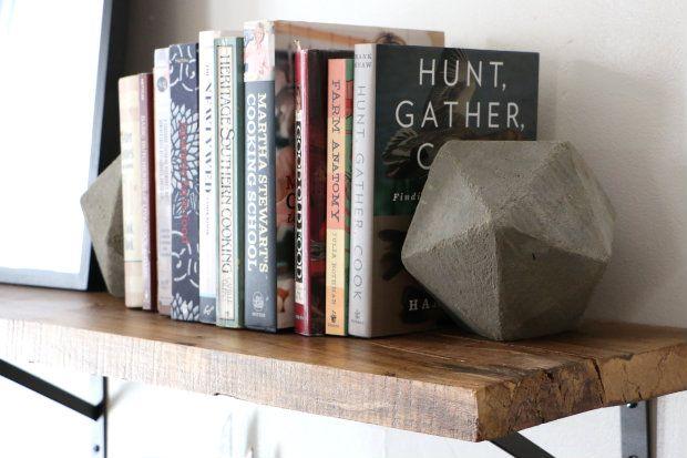 DIY Geometric Concrete Bookends | eHow Home