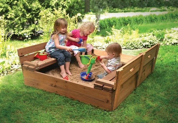 Sandbox With Cover And Benches   Home Design, Garden & Architecture Blog Magazine
