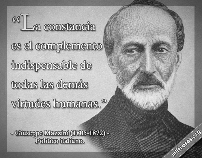 Giuseppe Mazzini, político italiano.