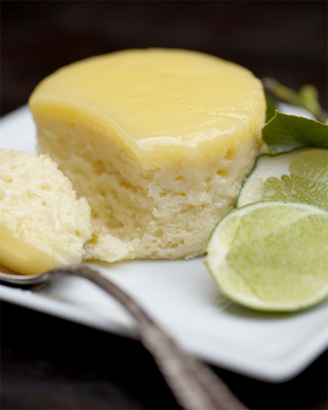 Baked Lime Pudding Cake.