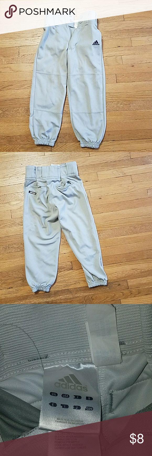 Adidas Baseball Pants Size Youth XXS Adidas Baseball Pants Size Youth XXS. These have 2 snaps and a zipper. Unisex for boys or girls. adidas Bottoms Sweatpants & Joggers