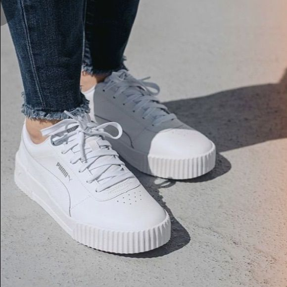 Puma Carina White Sneakers Outlet Store, UP TO 60% OFF