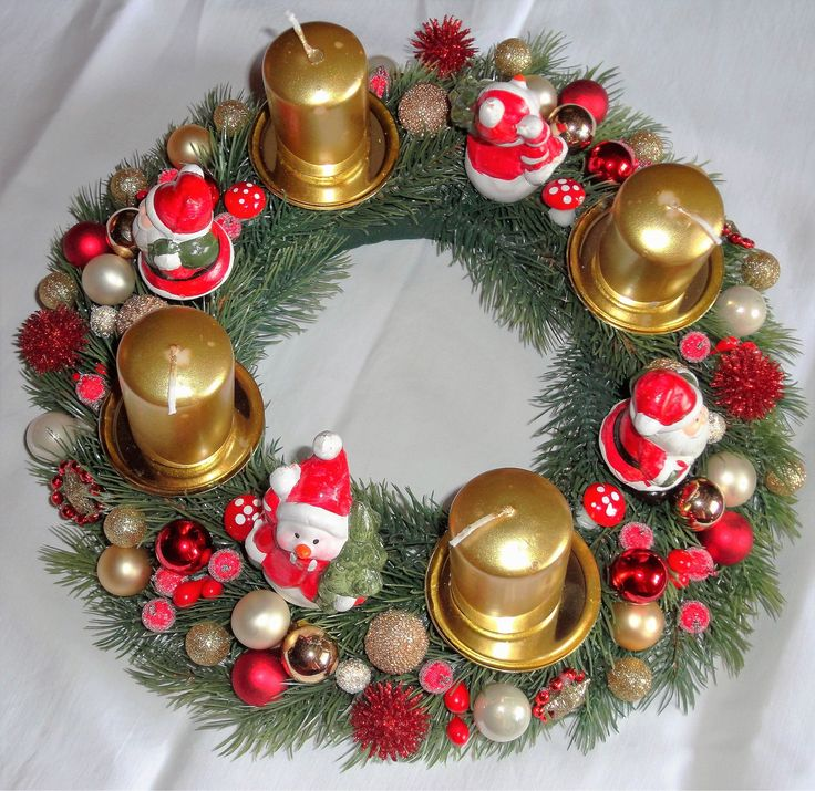 Decoration noel fait main pour table - Decoration couronne de noel ...