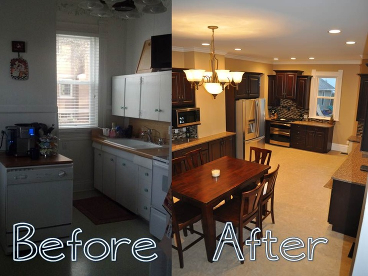 our before and after kitchen remodel - Mobile Home Kitchen Designs