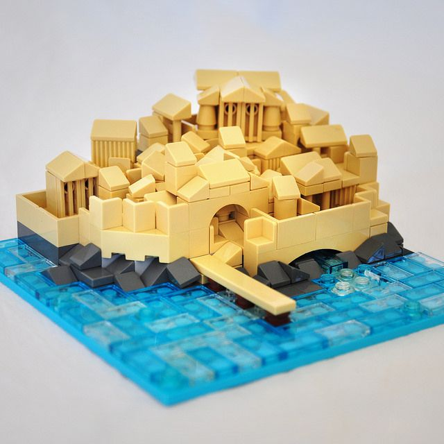 Lego Greek Port City | My first try at miniscale format. A g… | Flickr