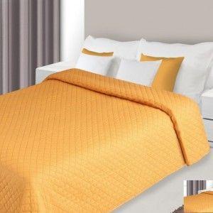 oranzova prikryvka na postel