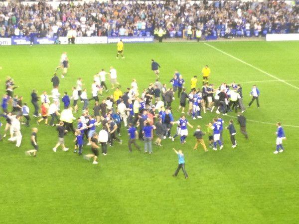 Tony Hibbert scored. Everton rioted.