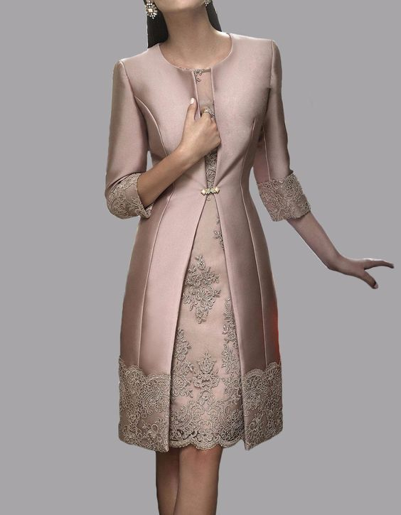Lace Mother of the Bride Dresses Wedding Suit Dresses Evening Gowns with Jacket …