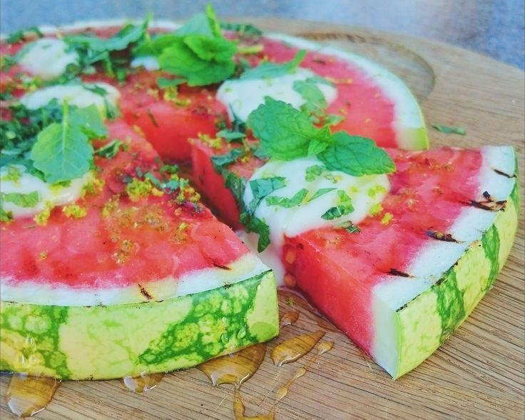 Grillad vattenmelon med grekisk yoghurt   Recept från Köket.se