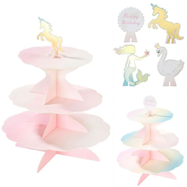 This stunning pastel cake stand is as versatile as it gets Display sweet cakes and treats at any celebration you have the choice between four trendy