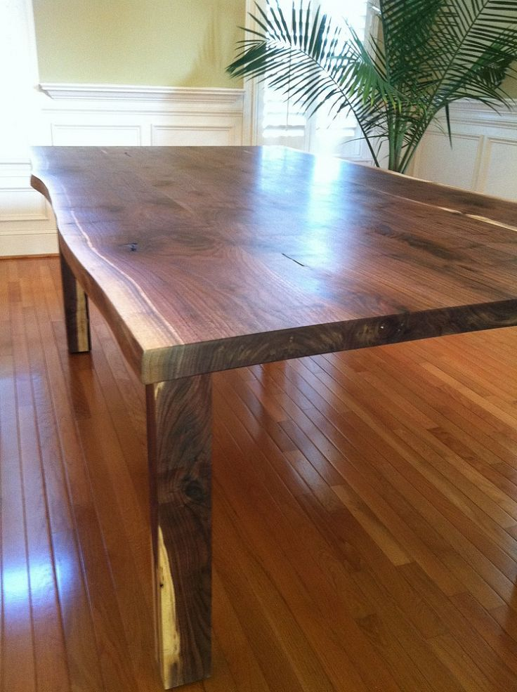 Black Walnut Live Edge Table, Painted Furniture, This Tree Had Some  Beautiful Character It Is Made Entirely Of The Same Tree