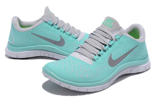 879a1584ff41 Nike Free 3.0 V4 Size 9 Shoes For Running For Women Crystal mint Grey
