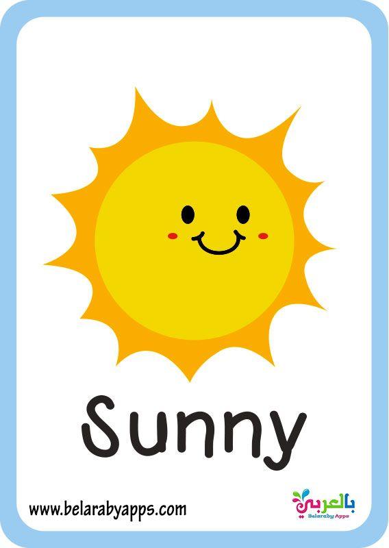 بطاقات تعليم حالة الطقس بالانجليزي Pdf فلاش كارد تعليمي بالعربي نتعلم Character Fictional Characters Tweety
